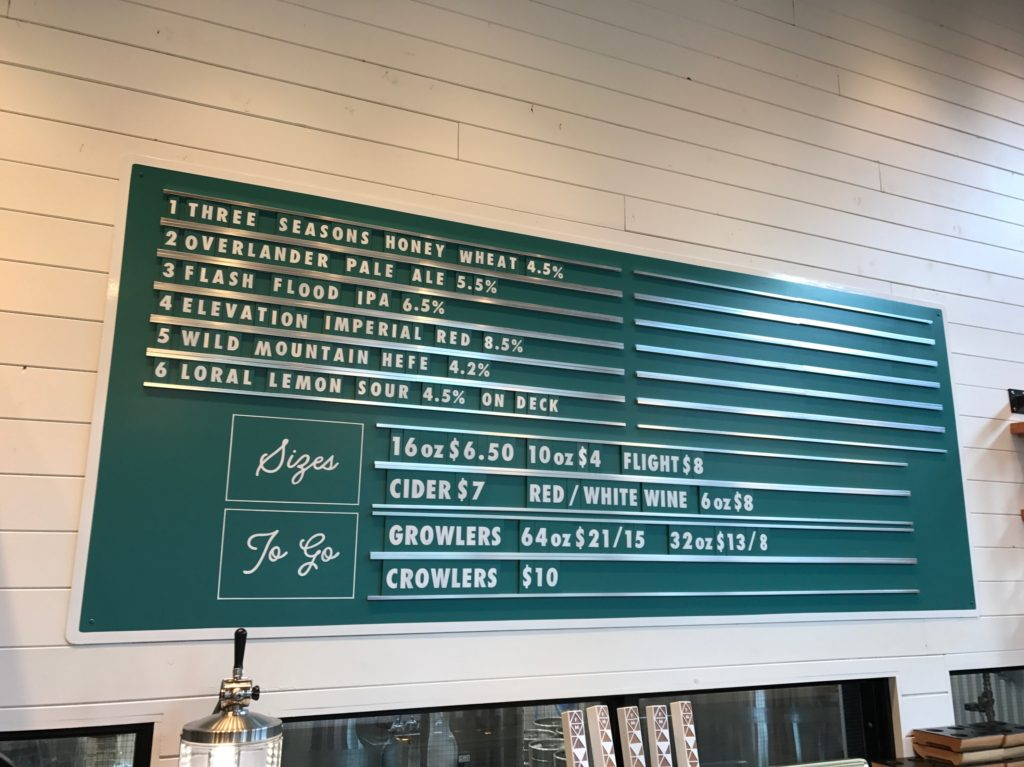 On Tap at Folding Mountain Brewing