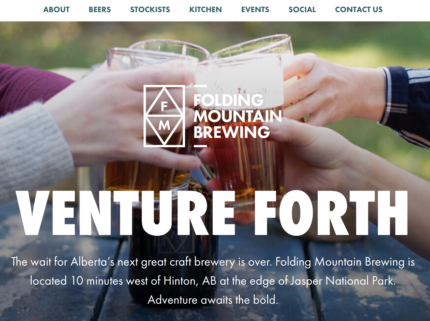 The wait for Alberta's next great craft brewery is over. Folding Mountain Brewing is located 10 minutes west of Hinton, AB at the edge of Jasper National Park. Adventure awaits the bold.
